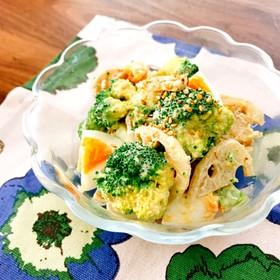 レンジで☆蓮根ブロッコリーマヨぽんサラダ