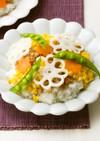 れんこんと鶏そぼろのちらし寿司