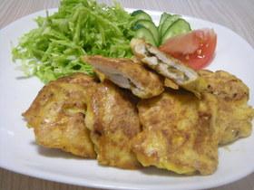 ~鶏肉の梅と大葉サンドピカタ~