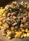 納豆&しょう油焼きコーンのコラボ前菜