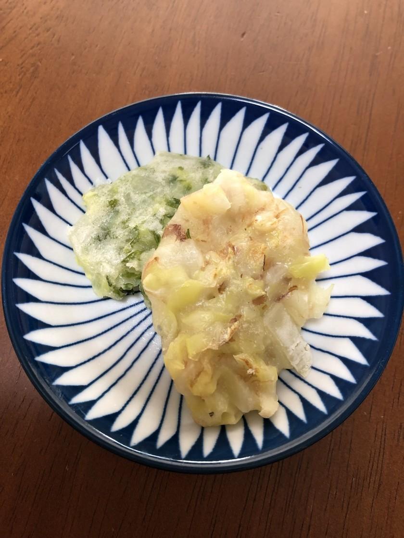 離乳食中期!卵なしお好み焼き (味2種類