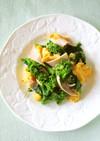 春✾菜の花とハムと卵の塩麹炒め