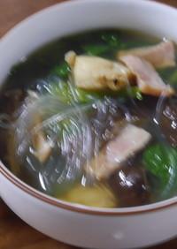 サンチュたっぷりスープ