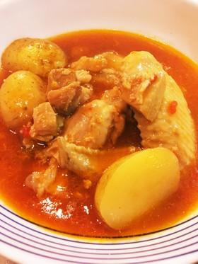 ストウブ使用 いろいろ鶏肉のケチャップ煮