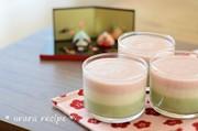 ひな祭りに☆簡単3色豆乳プリンの写真