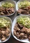 簡単、生姜焼き用の肉で豚丼。