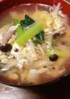 餃子の日のスープ