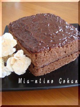 レンジ3分で☆ふんわりチョコケーキ♡