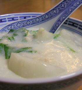 春のかぶの中華風ミルク煮
