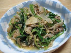 生の高菜と豚のにんにく醤油炒め