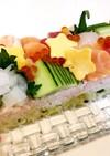 雛まつり*ひなケーキのような三色推し寿司