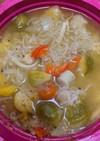 電子レンジ圧力鍋で作る野菜スープ