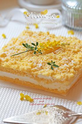 春はミモザのエアリーケーキ/Lemon