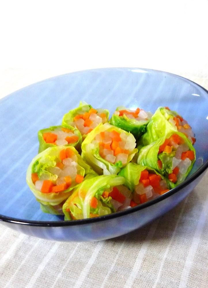 春キャベツの春巻きサラダ!