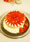 簡単イチゴたっぷりデコレーションケーキ♡
