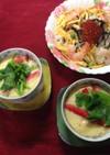長芋とカニカマの茶碗蒸し