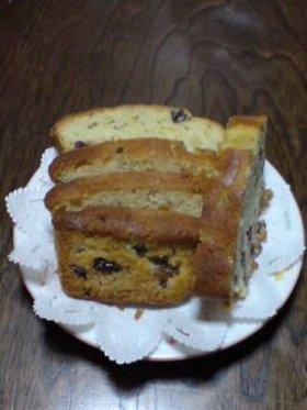 ブランデーフルーツパウンドケーキ