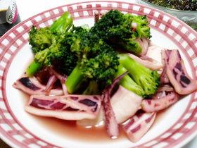 ノンオイル♪イカとブロッコリーの中華風