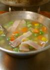 最盾の一番安い定食に付いてくるスープ