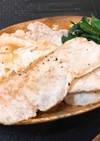豚肉と葉にんにくのバター醤油ソテー