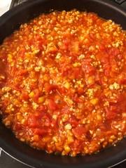 *離乳食後期*豚挽肉と野菜のトマトソースの写真