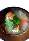 365スープ⑨むちむち鶏団子のお味噌汁