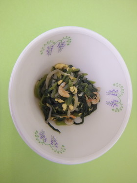 小松菜と桜えびの炒め物
