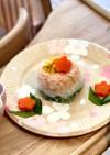 卵なし離乳食後期 雛祭り洋風3色ごはん
