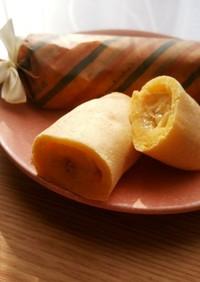 朝食 お弁当 HMで簡単*バナナロール*