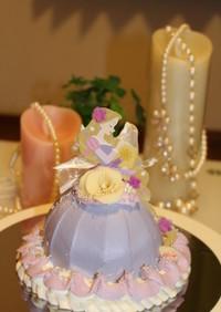 簡単♡ラプンツェルのドールケーキ