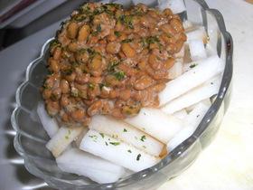 あら不思議!山芋な大根納豆サラダ