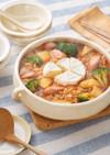 カマンベールチーズフォンデュ辛ラーメン鍋