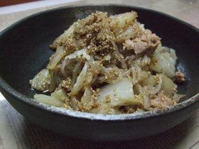 ☆白菜と糸こんにゃくのツナ胡麻サラダ☆