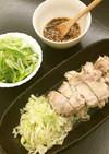 レンジで4分、簡単中華蒸し鶏