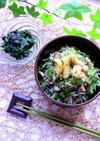 小松菜とジャコとキノコの炒め煮