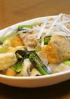 豚バラ肉と厚揚げと小松菜の中華あんかけ