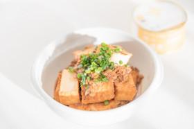 鯖の味噌煮缶と厚揚げの味噌煮
