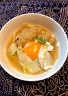 白菜と油揚げの煮浸しIN卵