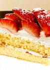 米粉のいちごショートケーキ