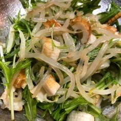 水菜ともやしの中華サラダ