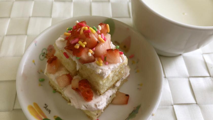 簡単☆可愛い いちごケーキ