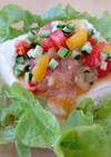 豆腐とトマトサラダ オニオンドレッシング