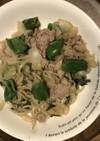 ラムかマトンと野菜の炒め物