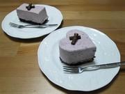 マキベリーのレアチーズケーキの写真