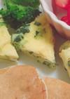 【離乳食】電子レンジで野菜オムレツ