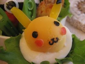 ゆで卵でピカチュウ♪キャラ弁おかず