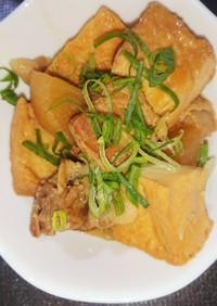 豚肉・大根・厚揚げの味噌煮込み