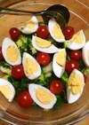 【おかず】春野菜とゆで卵の簡単春色サラダ