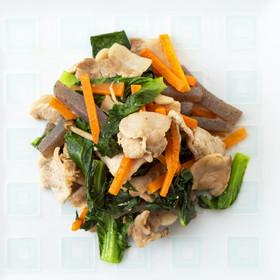 小松菜と豚肉の和風炒め