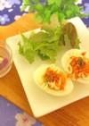 簡単☆ゆで卵の鮭マヨのっけ